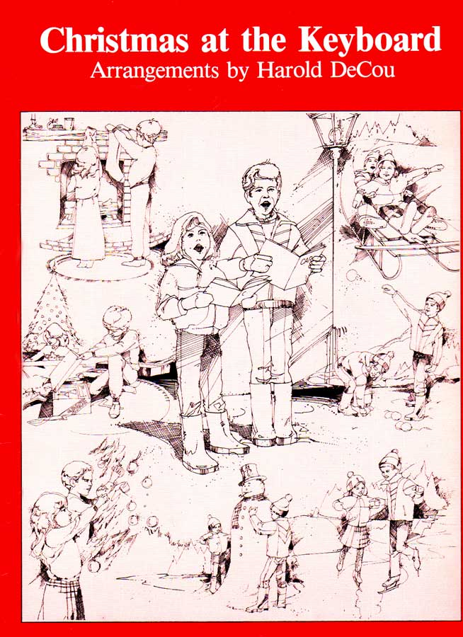 Christmas at the Keyboard Music Book Cover